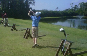 Nick at the Driving Range
