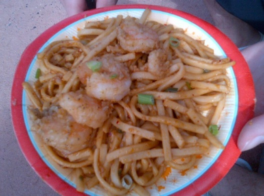 Black Pepper Shrimp with Sichuan Noodles - China